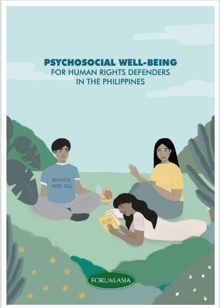 Booklet: Psychosocial Well-being for Human Rights Defenders in the Philippines