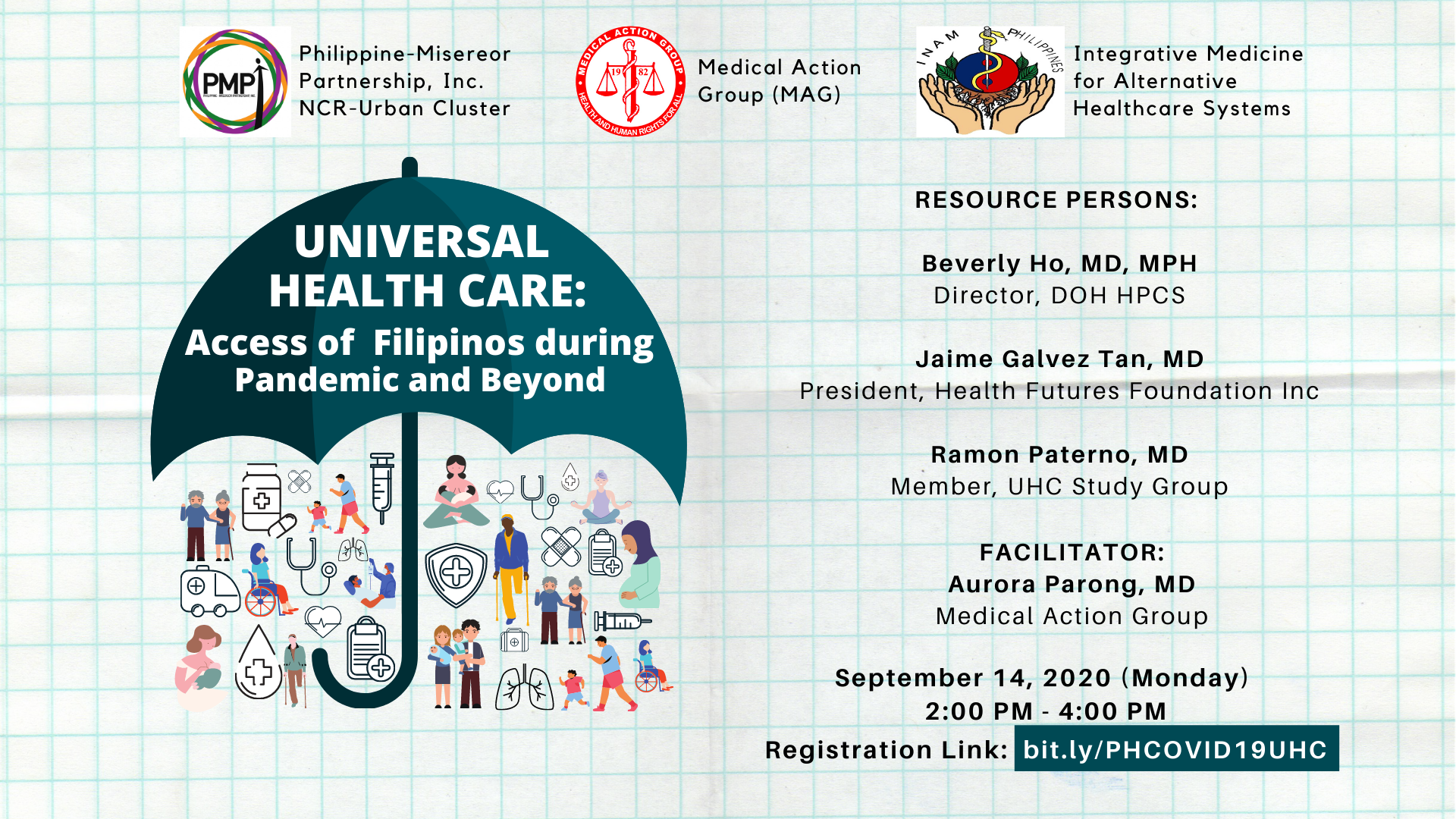 Webinar on the Universal Health Care: Access of Filipinos during the COVID-19 Pandemic