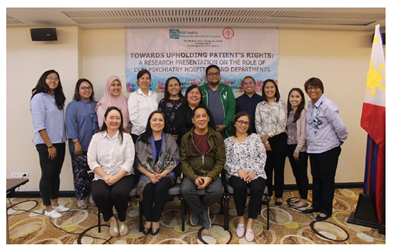Data Presentation and Consultation with the participating DOH Psychiatry Hospitals and Departments