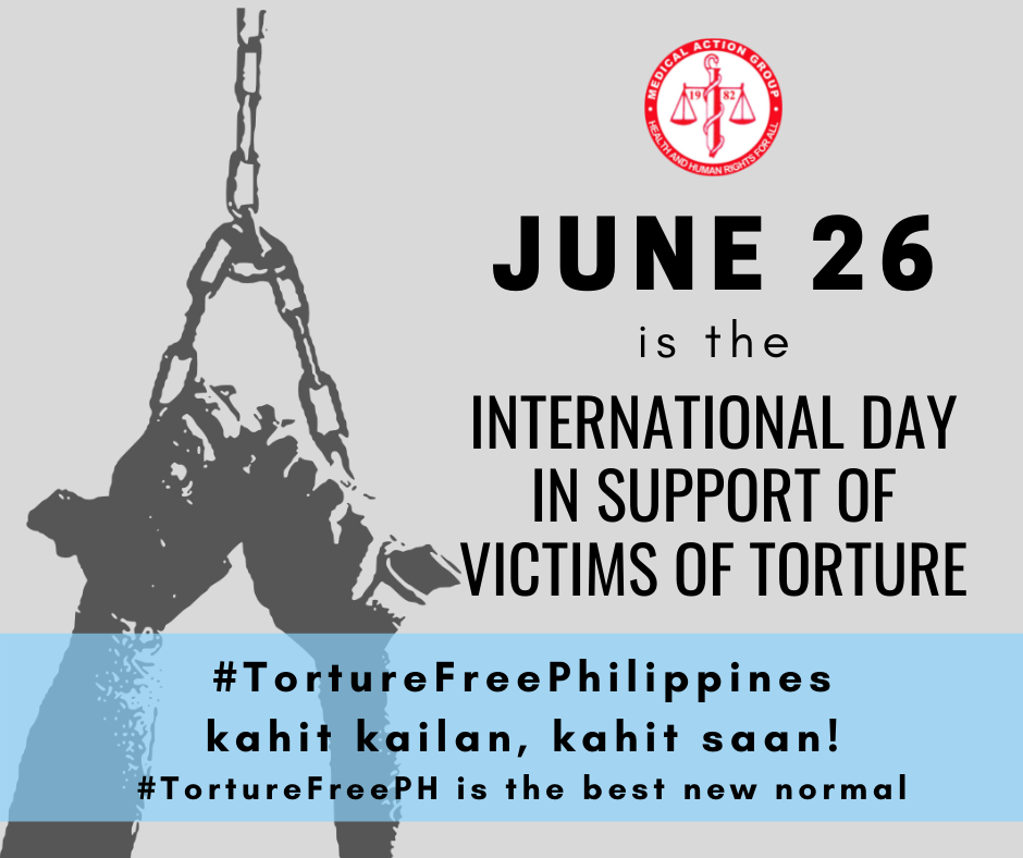 June 26 is the International Day in Support of Victims of Torture