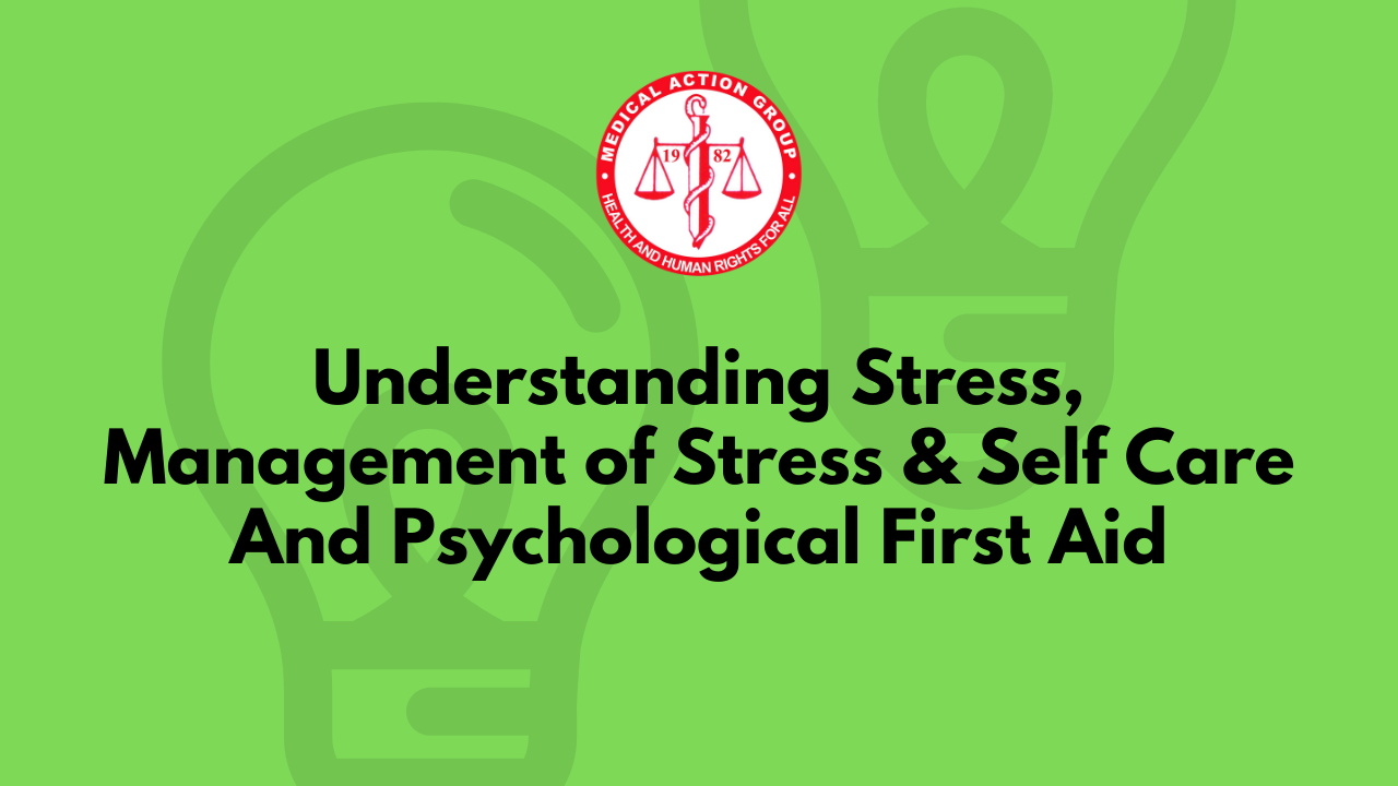Educational Video Series on Stress, Self-care, and Psychological First Aid is Now Open