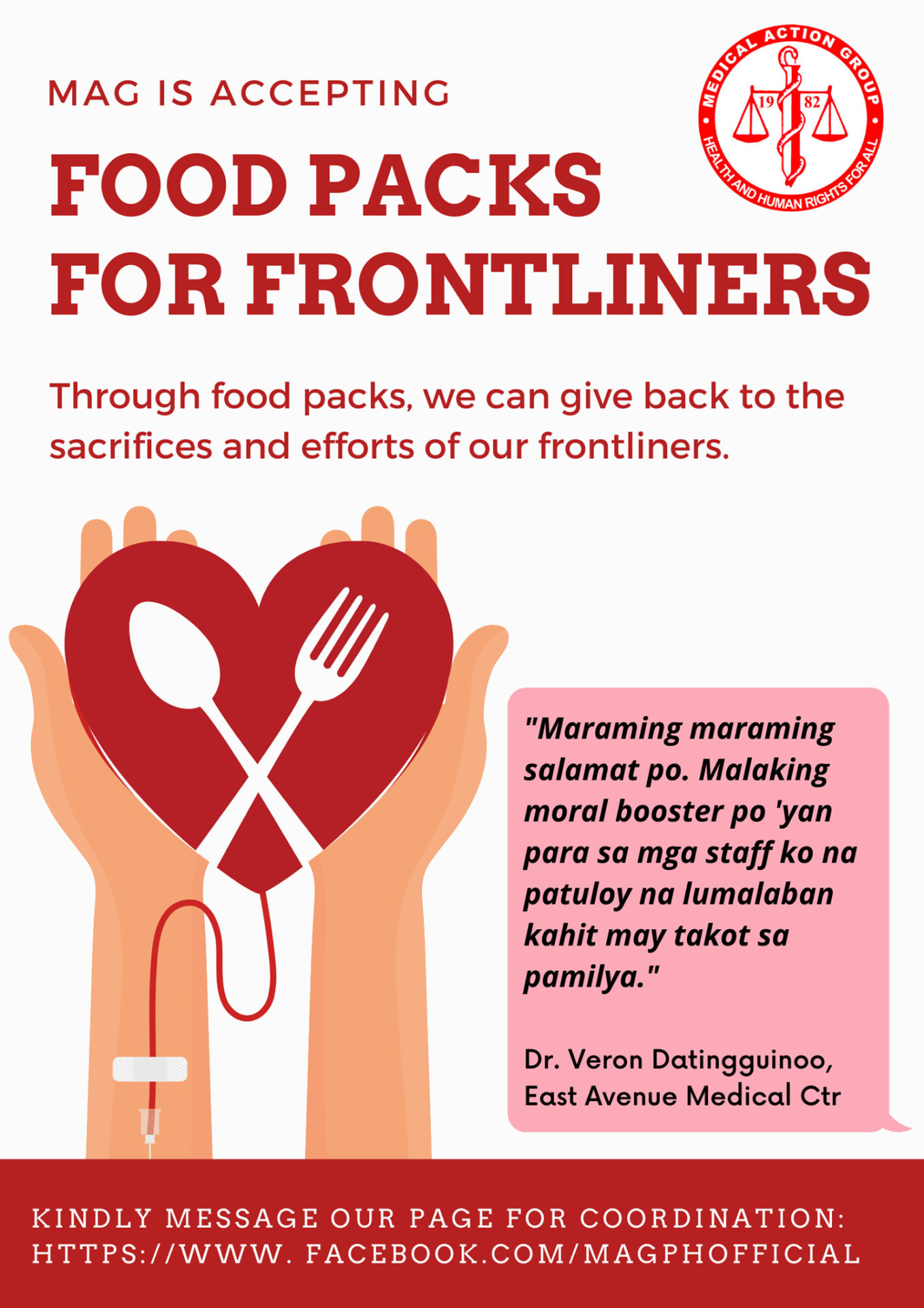 FOOD PACKS FOR FRONTLINERS