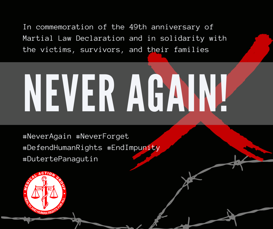 In solidarity with victims, survivors, and their families – commemoration of 49th Martial Law Declaration