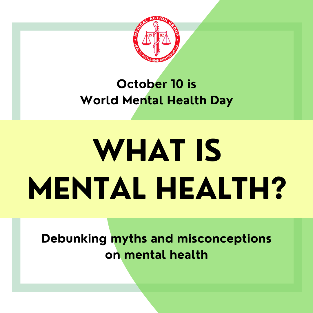 OCTOBER 10 IS WORLD MENTAL HEALTH DAY – COMBATTING STIGMA AND DISCRIMINATION